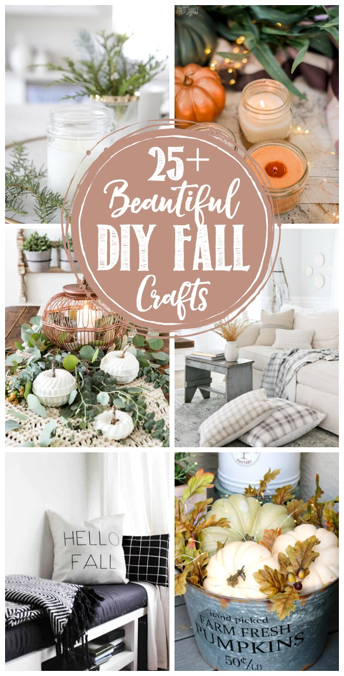Beautiful collection of DIY fall craft ideas.