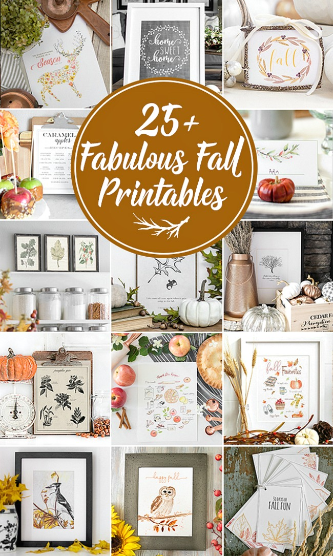 Collection of gorgeous free fall printables.
