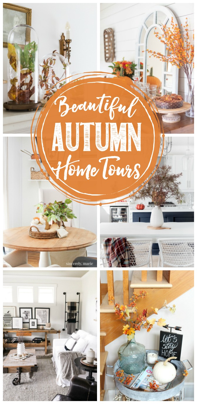 Collection of beautiful fall home tours and fall decor ideas.