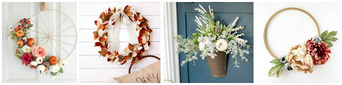 Beautiful collection of DIY fall wreaths.