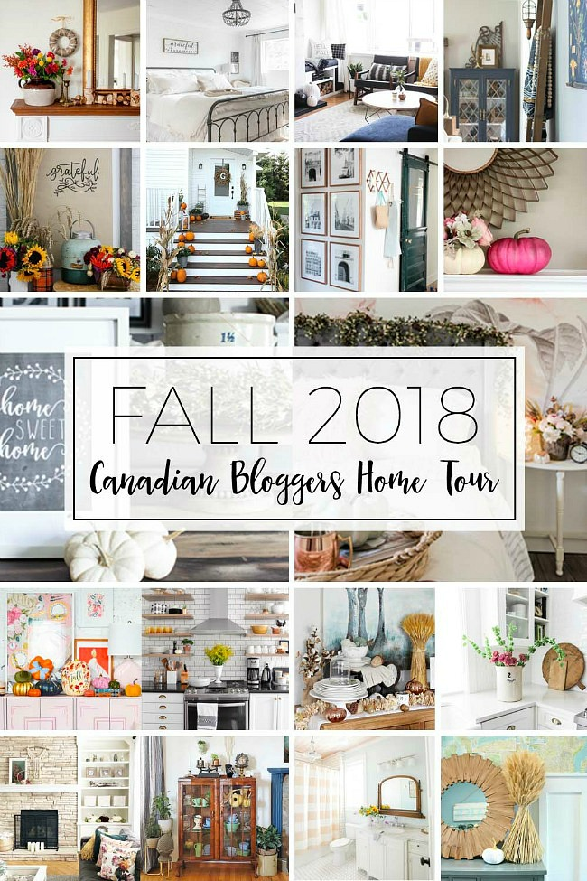 Collection of fall home tours.