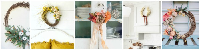 Beautiful collection of fall wreaths.