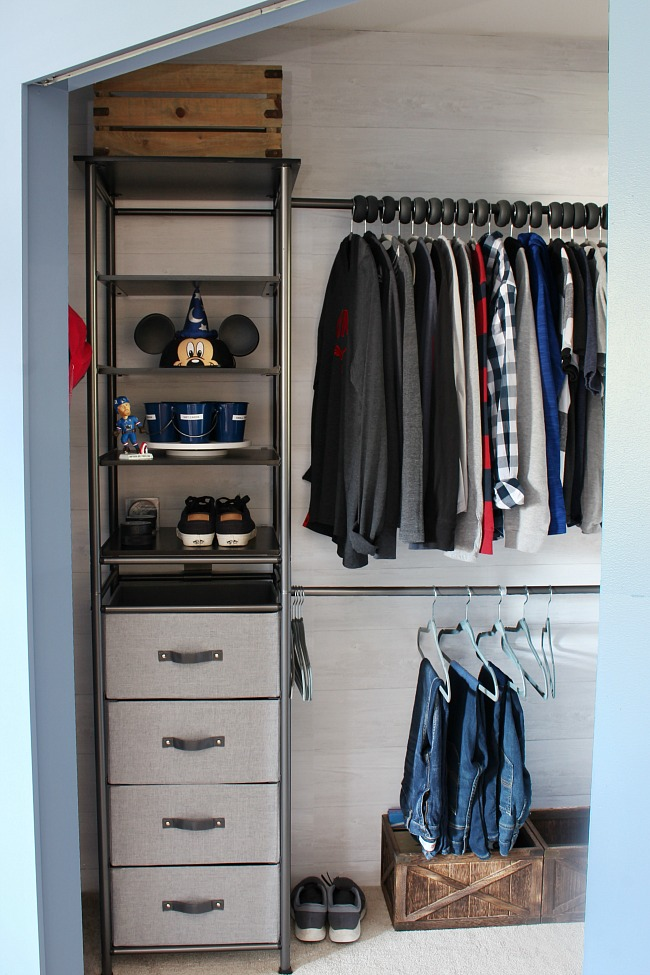 Organized Kids Closet With An Idesign Modular Storage System