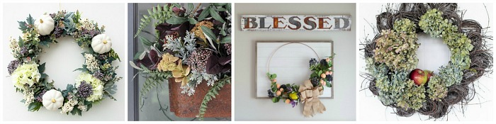 Collection of DIY fall wreaths.