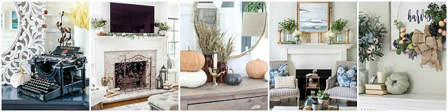 Collection of beautiful fall mantels.