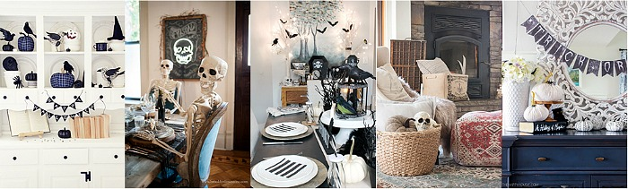 Collection of Halloween home tours.