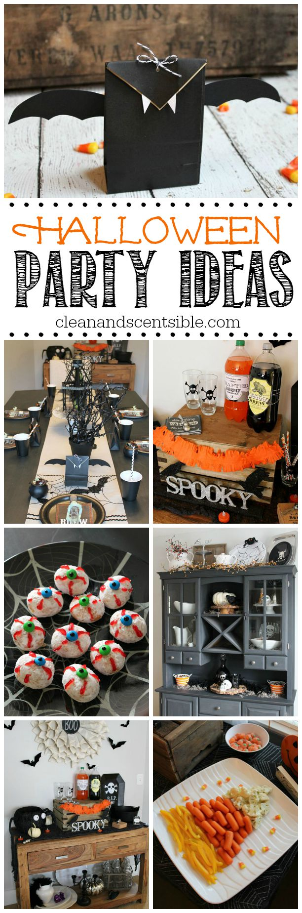 Fun collection of Halloween party ideas.