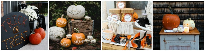 Collection of Halloween craft ideas.