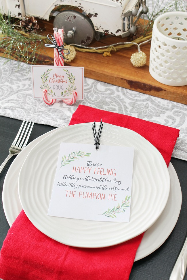 Christmas Printables Free Printable Christmas Place Cards Clean And Scentsible