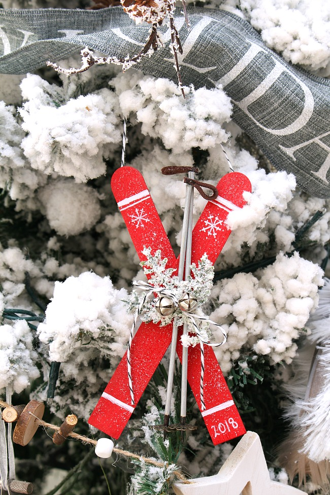 Popsicle Stick Christmas Tree Ornaments.Popsicle Stick Skis Christmas Ornaments Clean And Scentsible