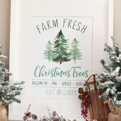 Farm Fresh Christmas Trees free Christmas printable.