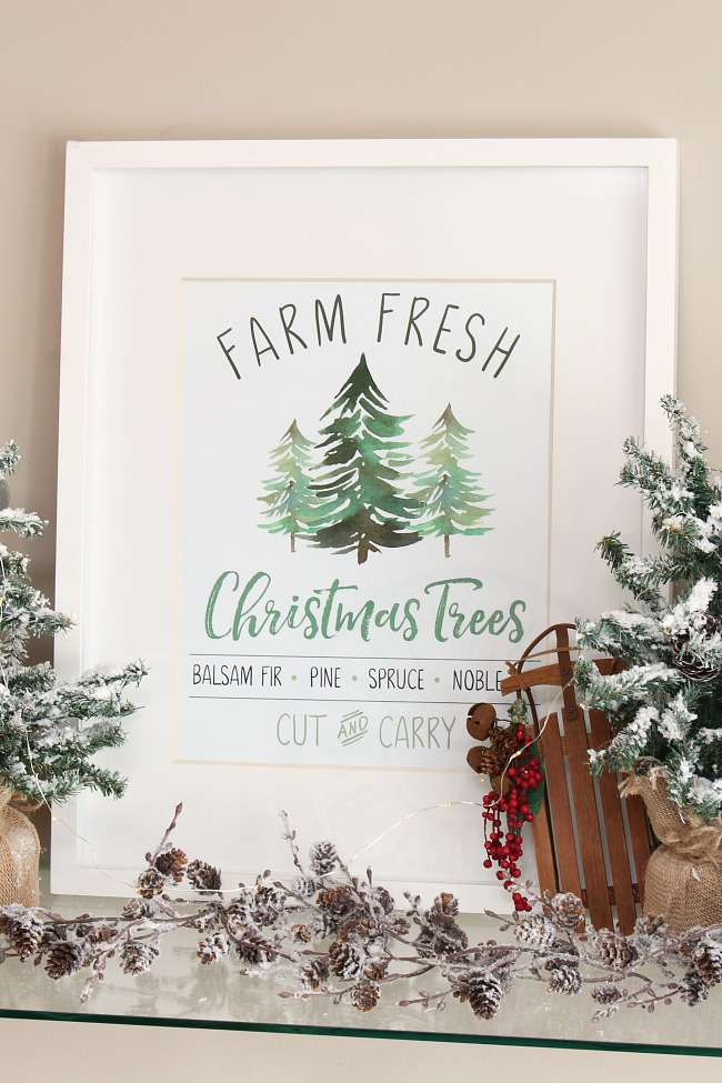 Farm Fresh Christmas Trees free Christmas printable.