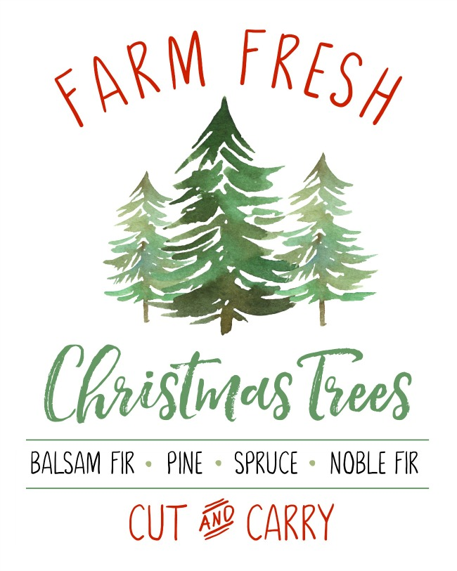 photo about Christmas Tree Printable referred to as Farm Contemporary Xmas Trees No cost Xmas Printable - Refreshing