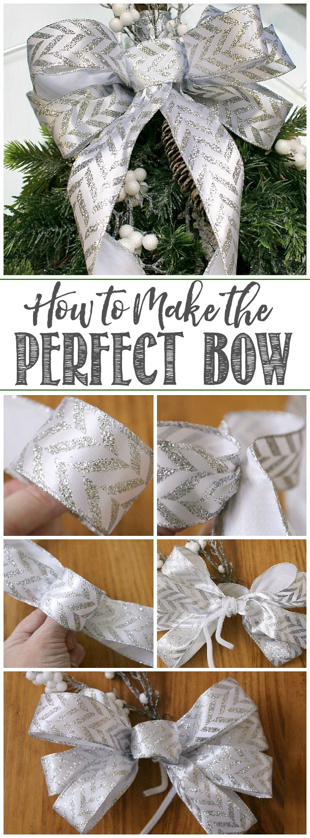 Step by step instructions to make a perfect bow using ribbon.