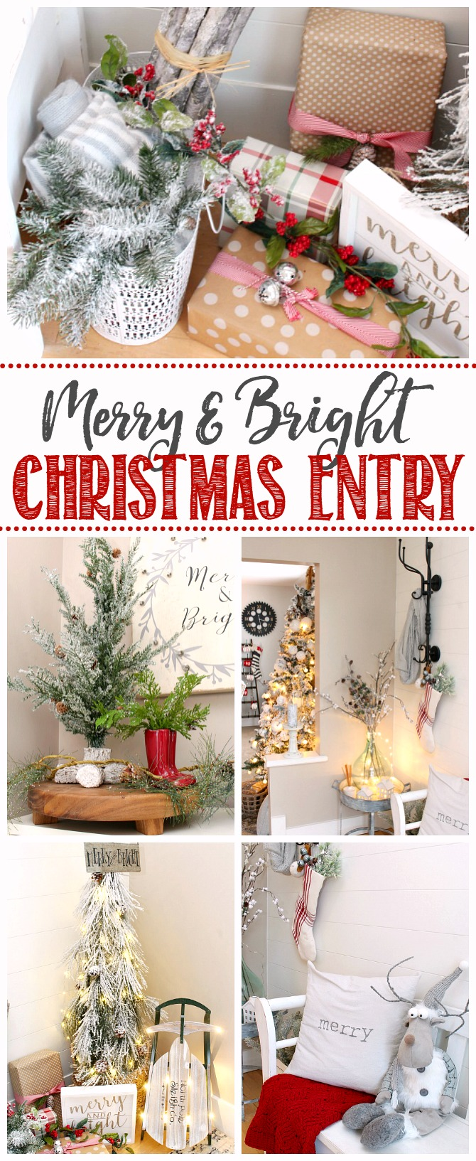 Beautiful Christmas front entry decorating ideas.