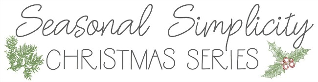 Seaosnal Simplicty Christmas Series banner.
