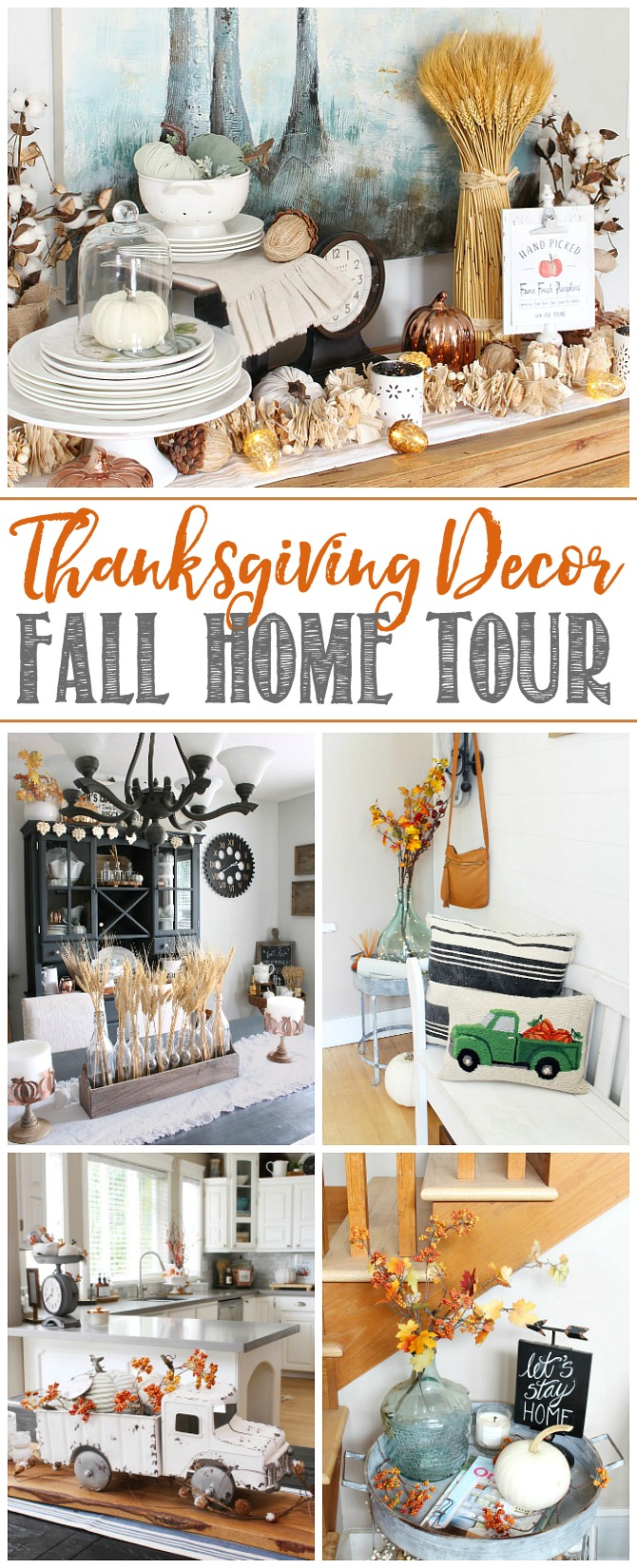 Fall home tour of a modern farmhouse style home.