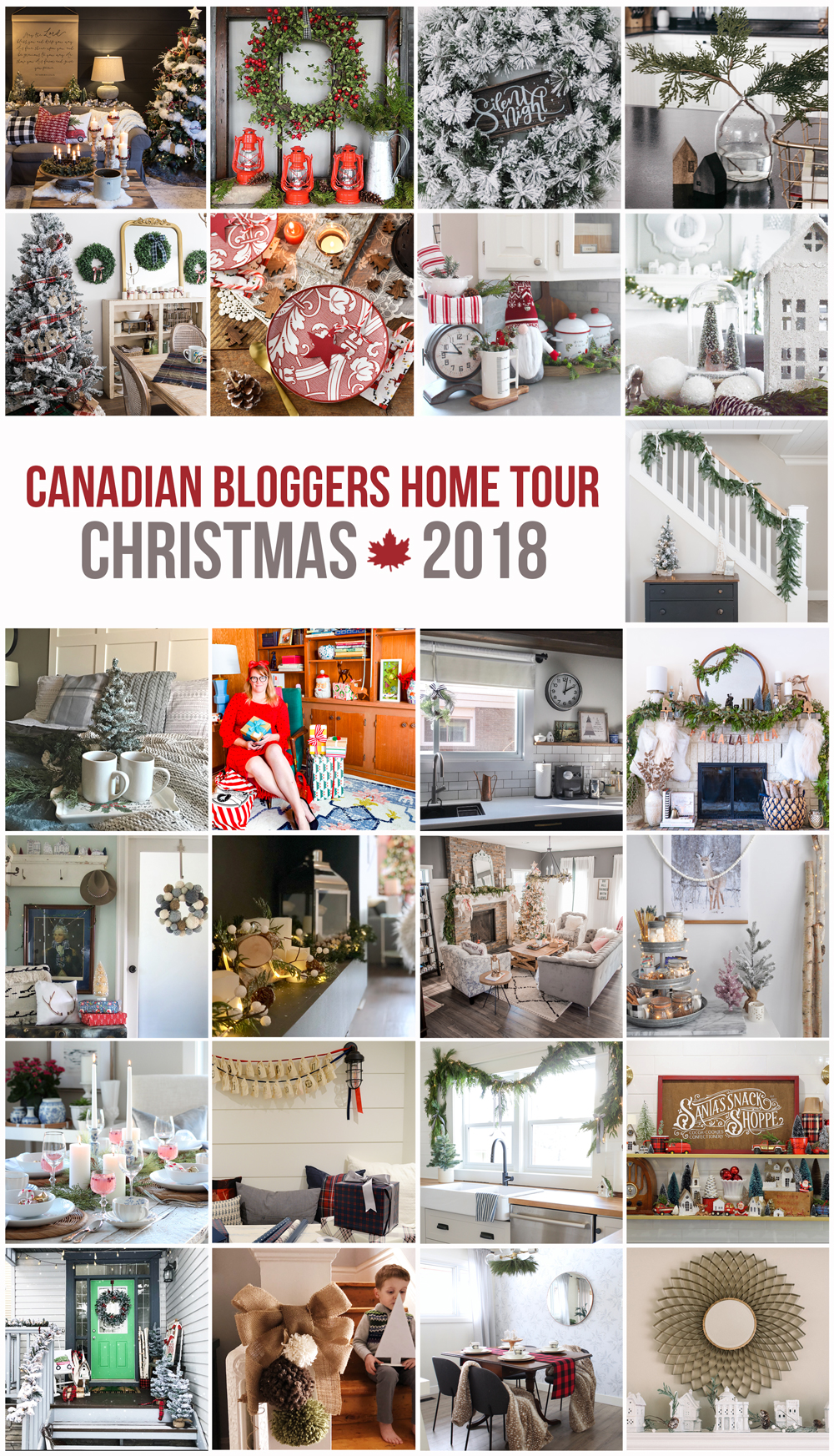 Collection of beautiful Christmas home tours from across Canada.