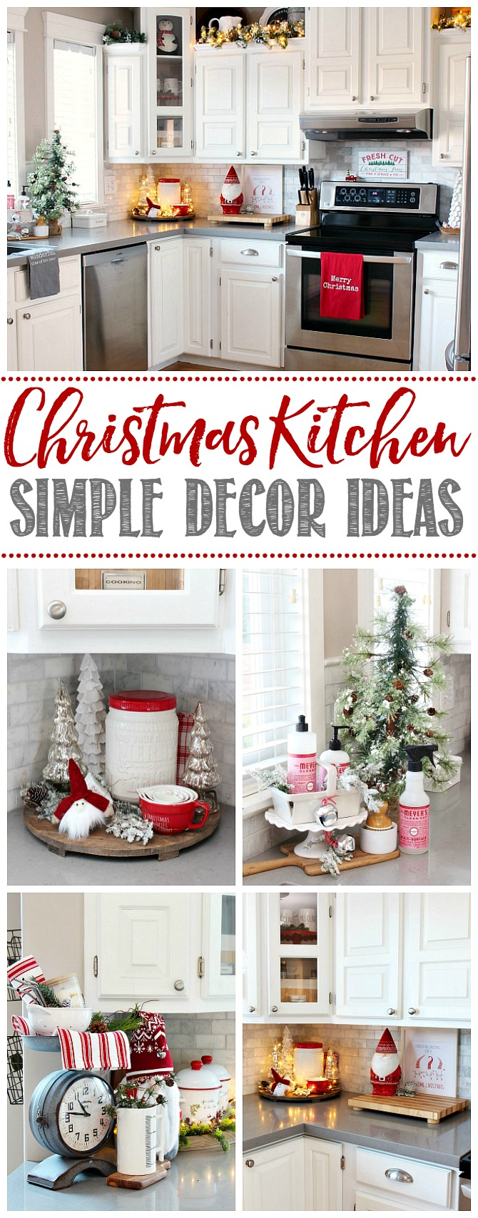 Collection of beautiful ideas to decorate you kitchen for Christmas.