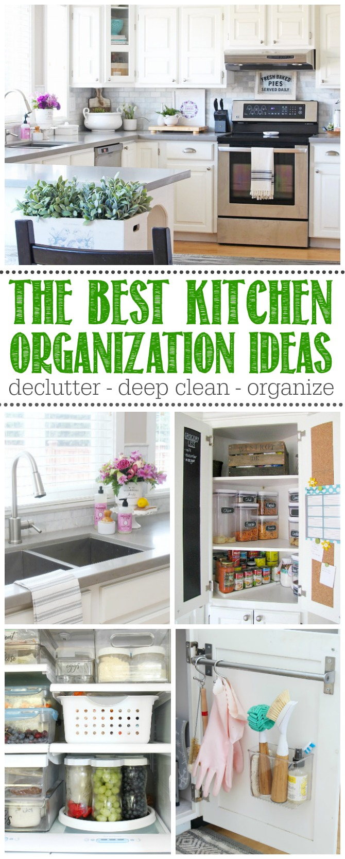 Collection of the best kitchen organization tips and ideas.