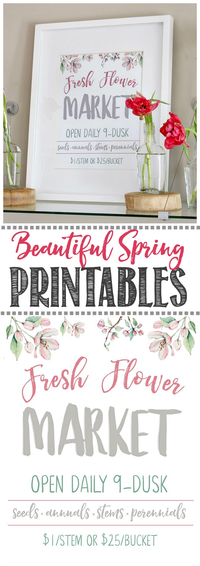 photograph regarding Spring Printable named Fresh new Flower Market place Free of charge Spring Printable - Contemporary and Scentsible