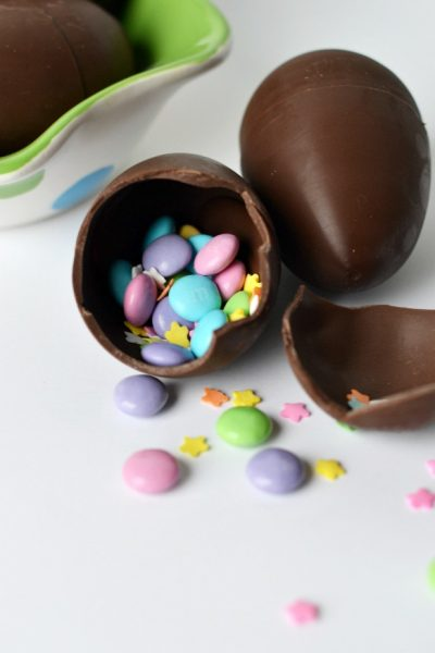 Chocolate Confetti Easter Eggs