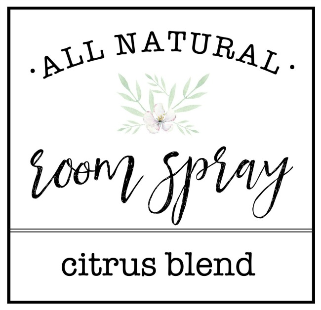 Free printables all natural room spray labels.
