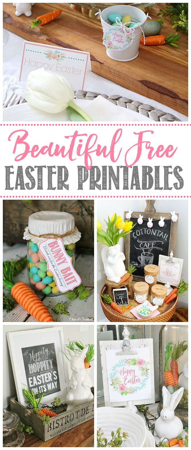 Beautiful collection of free Easter printables to enjoy for the season.