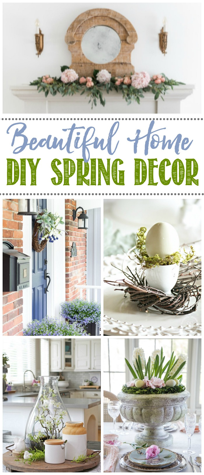 Beautiful collection of spring inspiration ideas for home decor.