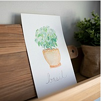 Herb watercolor printable.