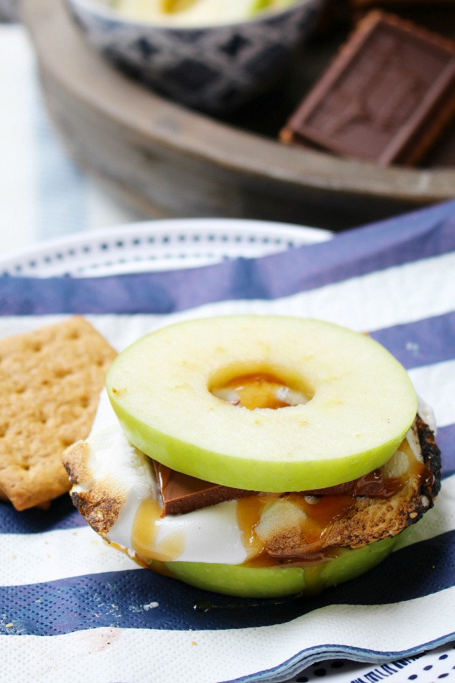 Apple caramel s'mores.