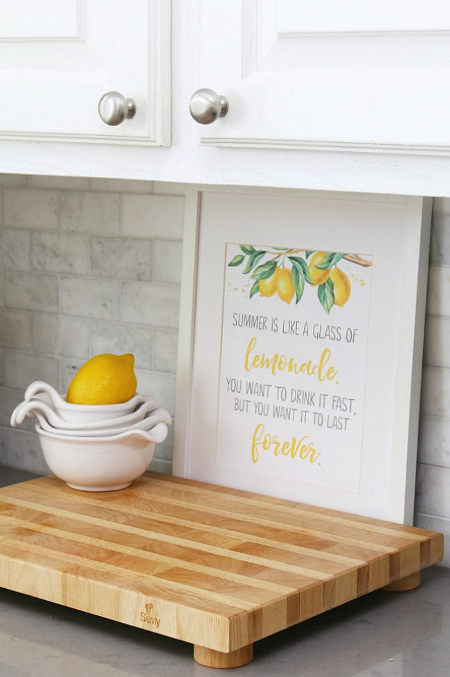 Free summer lemonade printable.