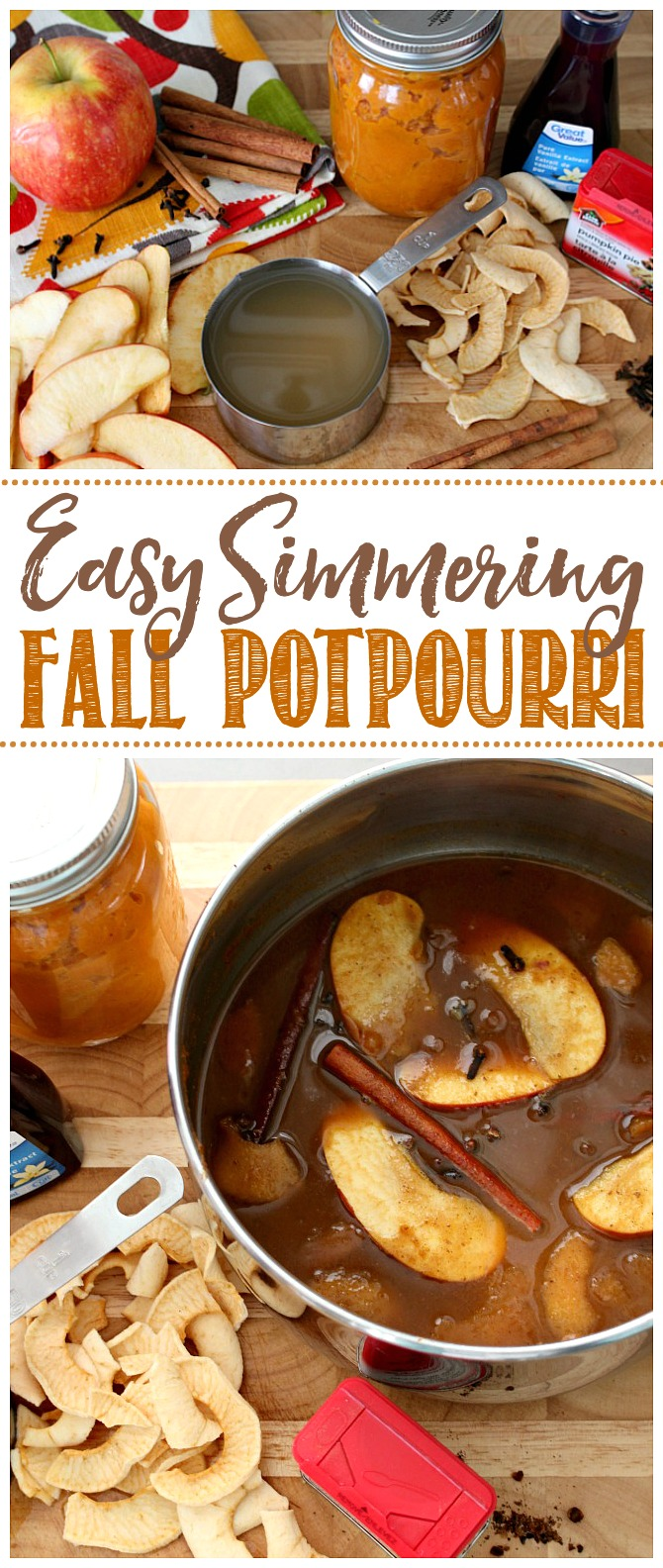 Fall potpourri made with pumpkin, apples, and delicious fall spices.