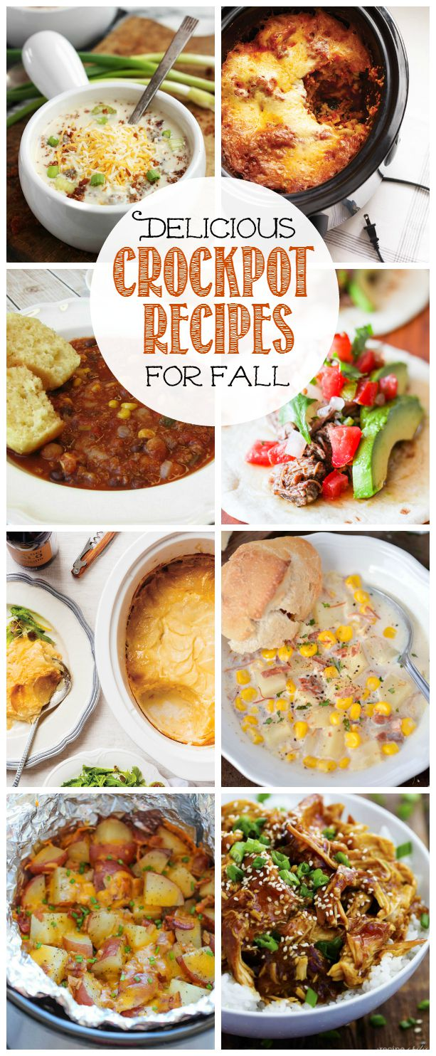 Collection of delicious slow cooker recipes for fall.