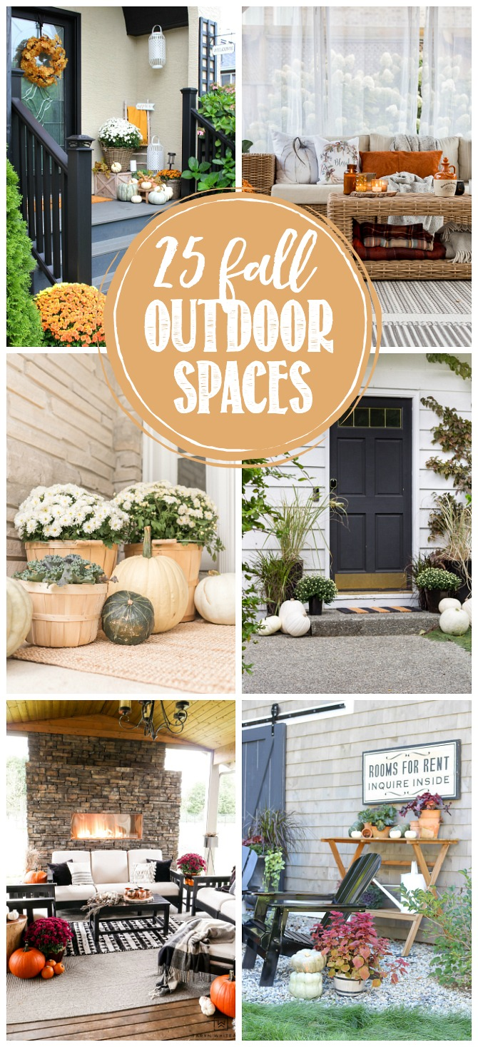 Collection of beautiful fall outdoor spaces.