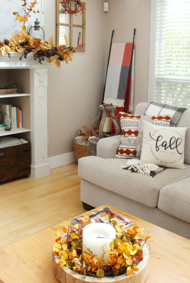 Fall Living Room Decor - Clean and Scentsible