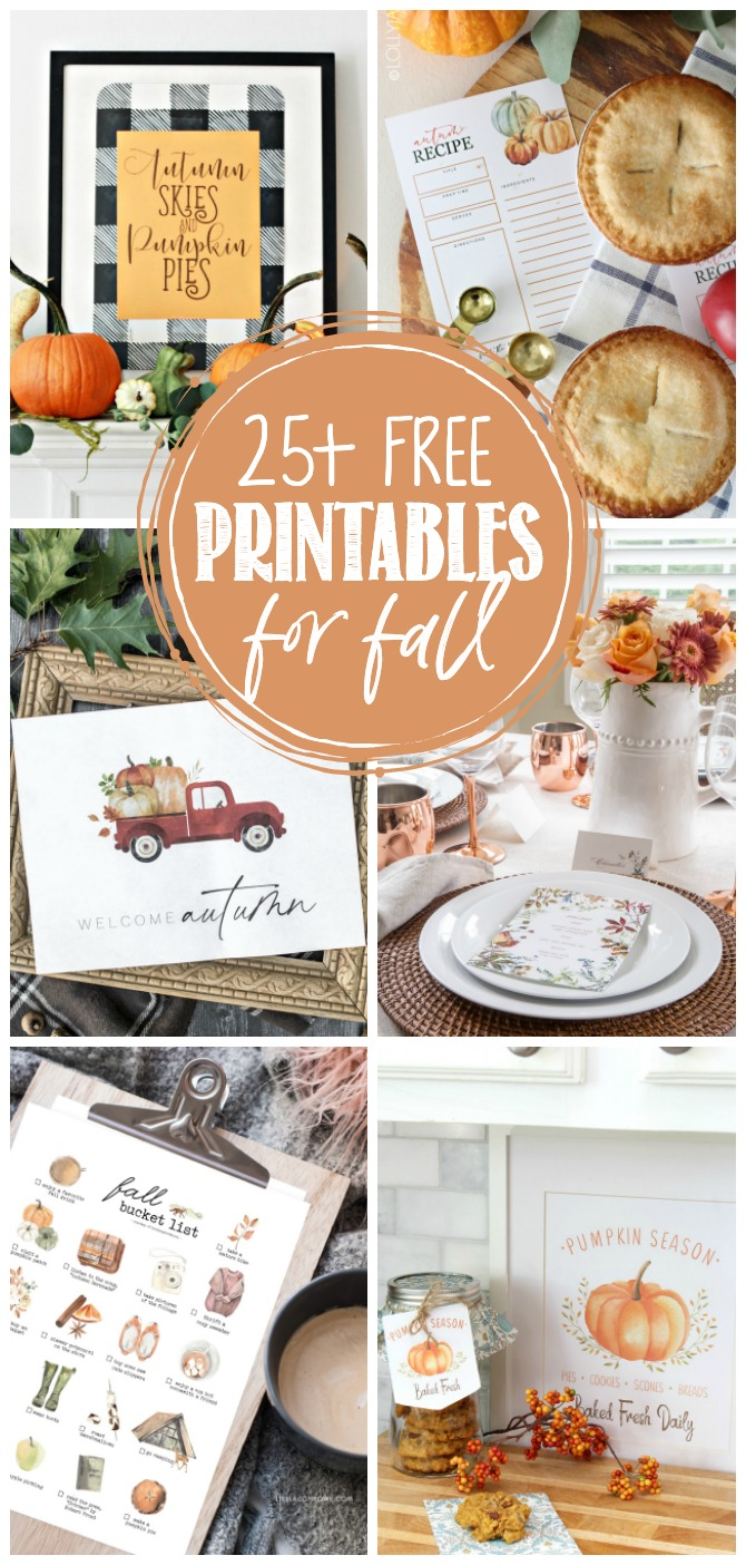 Collection of beautiful free fall printables.