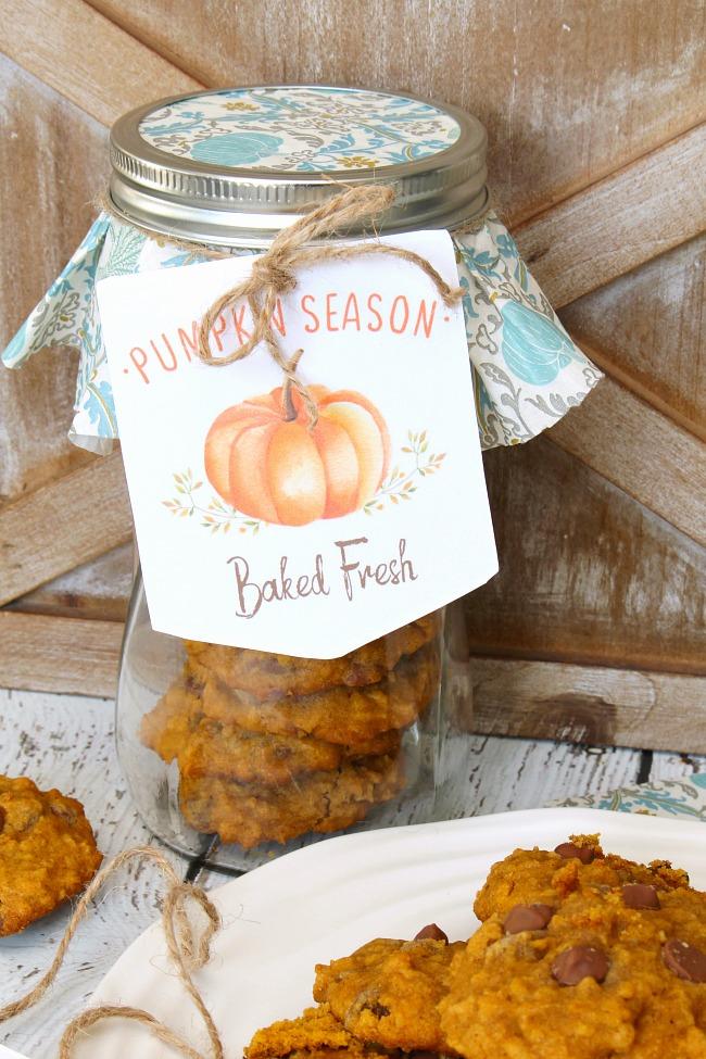 Pumpkin Season tags for fall baking.