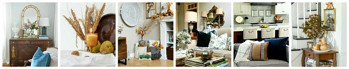 Beautiful collection of fall home tours.