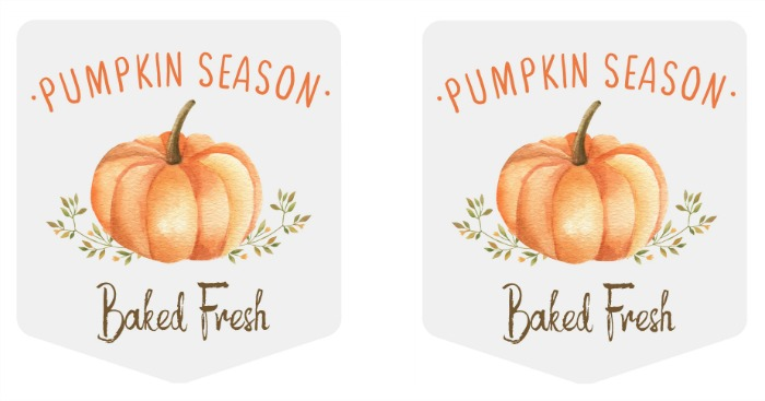 Pumpkin Season free printable fall baking tags.