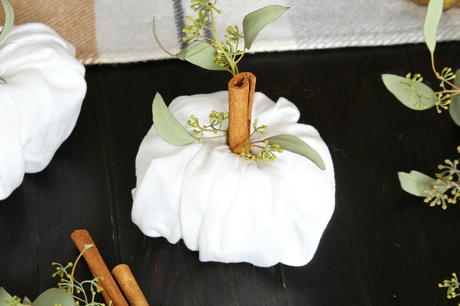 Pumpkin napkin folding technique tutorial.