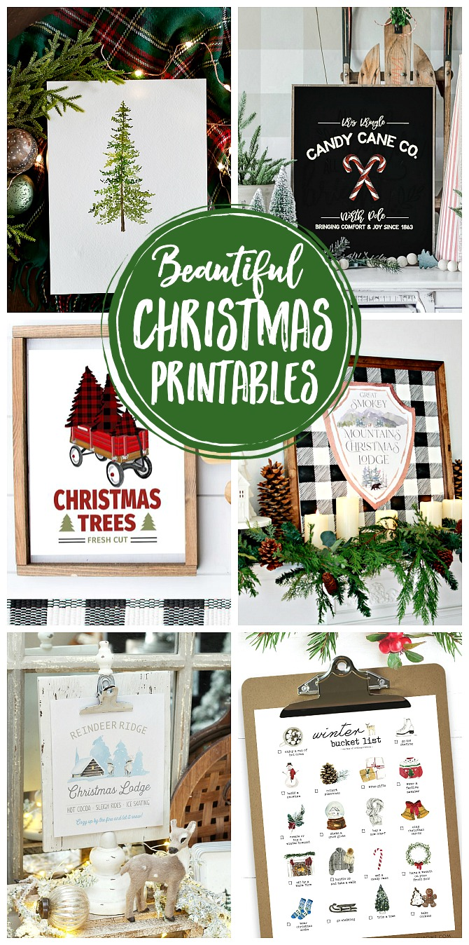 Collection of beautiful free Christmas printables.