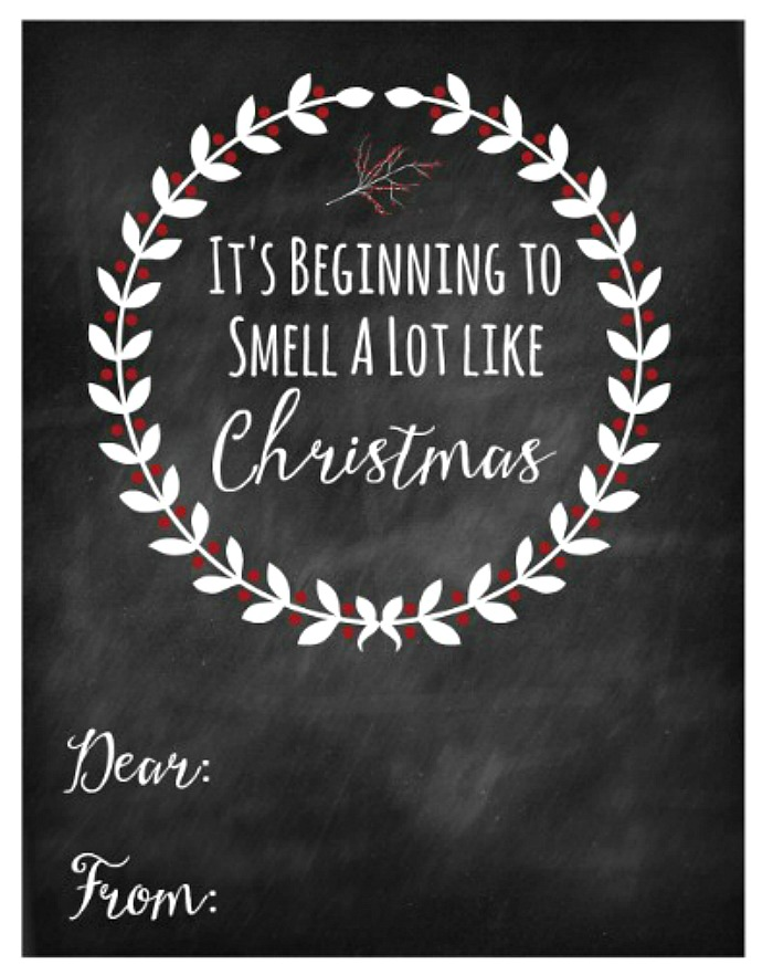 It's Beginning to Look a Lot Like Christmas free printable Christmas gift tag.