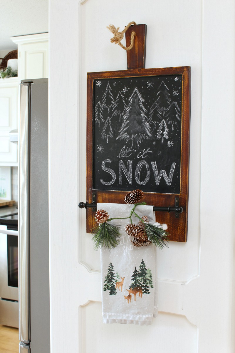 Let it Snow Christmas chalkboard.