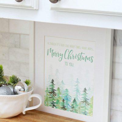 The Christmas Song free Christmas printable.