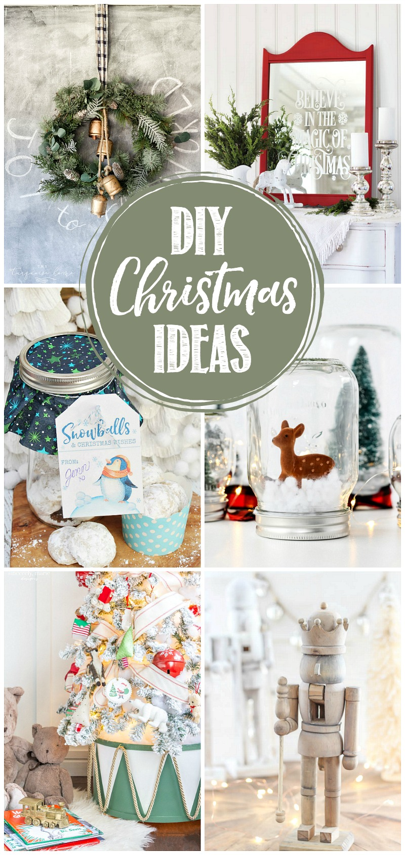 Collection of DIY Christmas ideas.