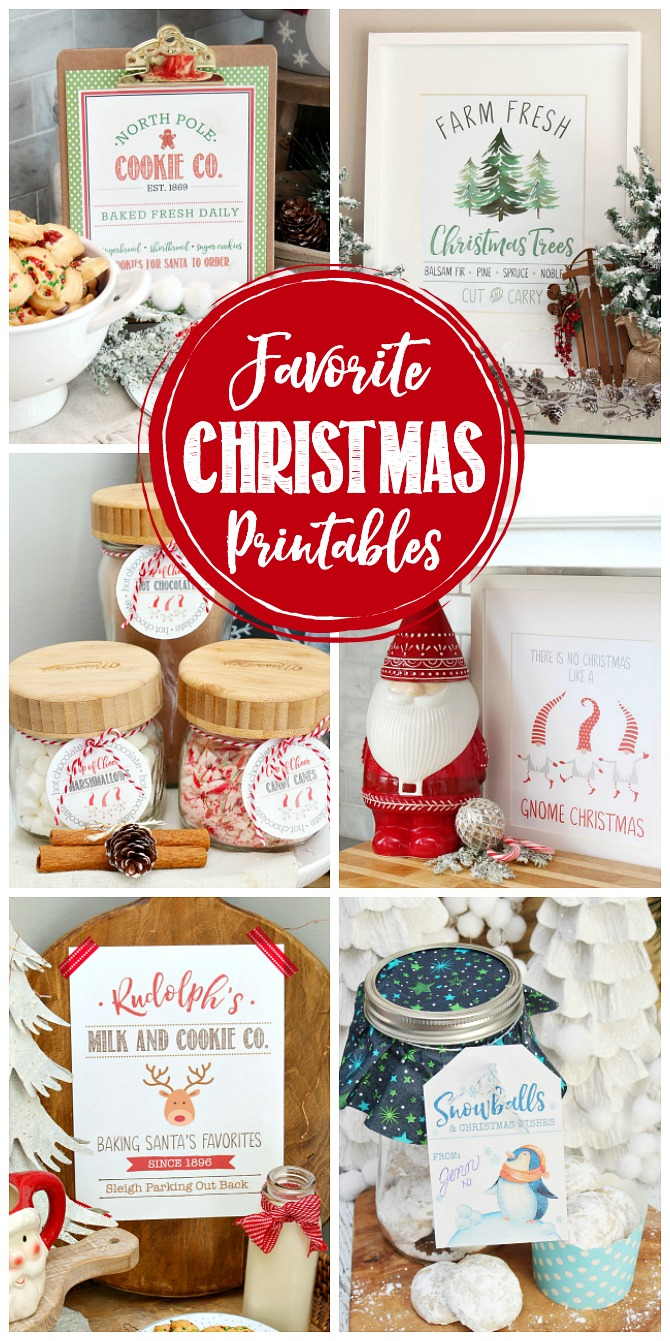Collection of the best Christmas printables.