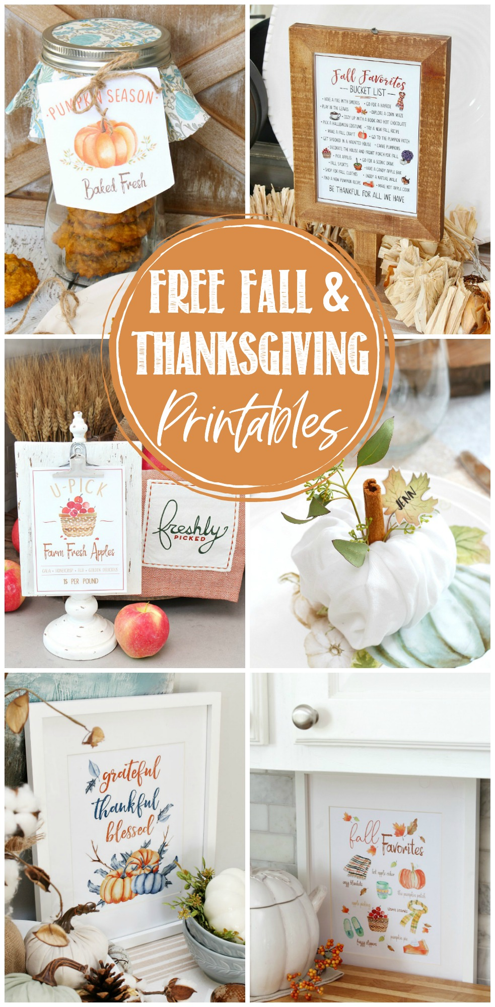 Beautiful collection of free fall printables for fall and Thanksgiving.