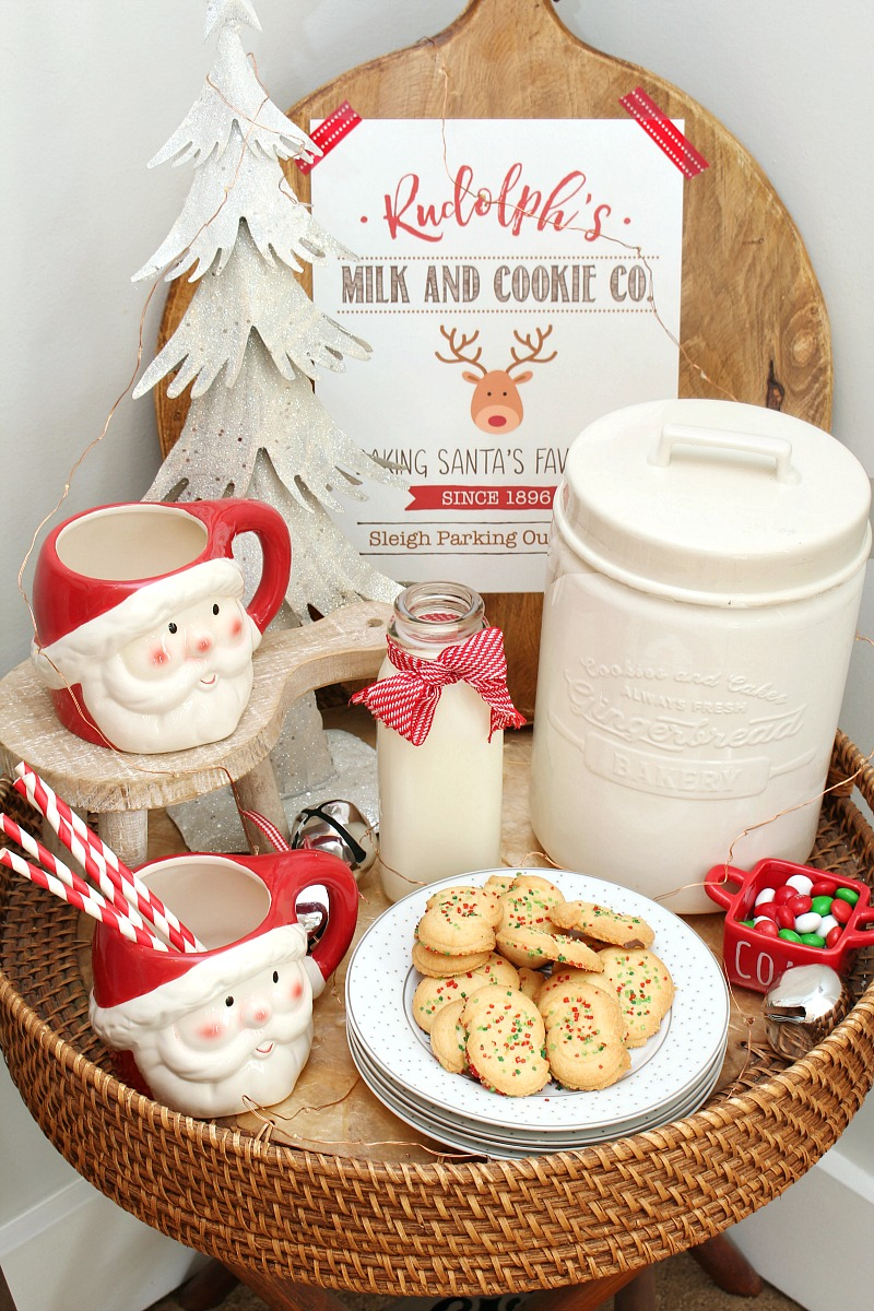 Milk And Cookie Bar With Christmas Printable Clean And Scentsible