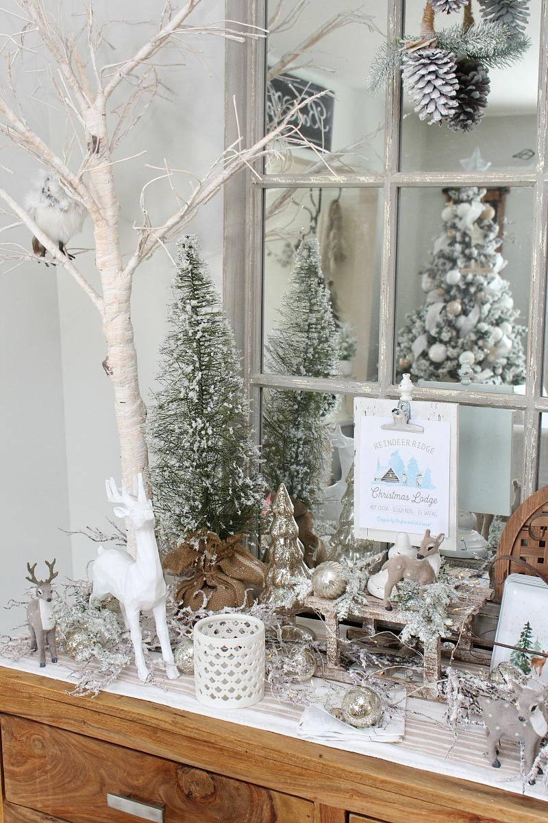 Reindeer Ridge Christmas printable and cute reindeer Christmas decor.
